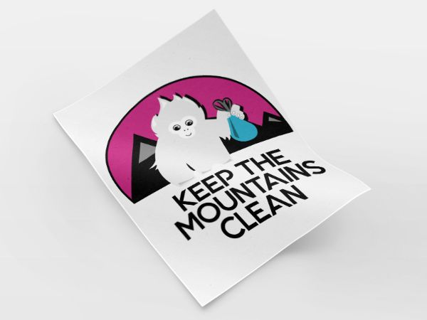 Le sticker Keep The Mountains Clean